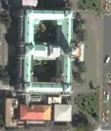 satellite photo of Taiwan's presidential building