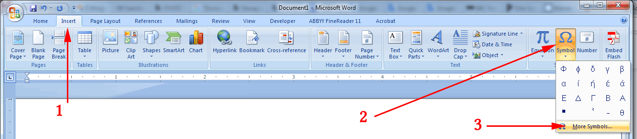 How to find Chinese characters in an MS Word document